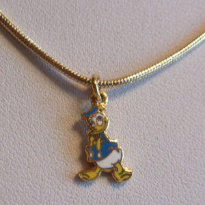"""Disney Donald Duck Pendant Necklace 16"""" L"""